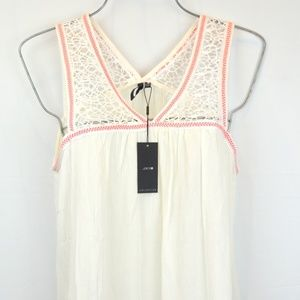 Joe's Collections M Crochet Embroidered  Tank Top